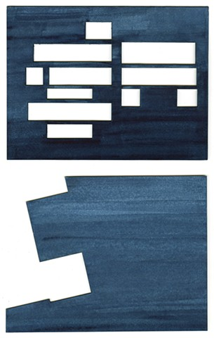 Untitled (Blue Pair)