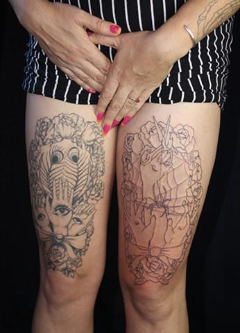 Lesbian, Eye, Hand, Tattoo, Evil Eye Protection