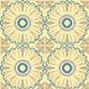 Moroccan Sunflower Tile Print