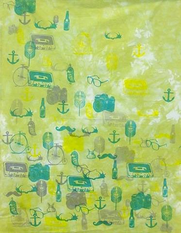 Printed Fabric by Malarie Reising