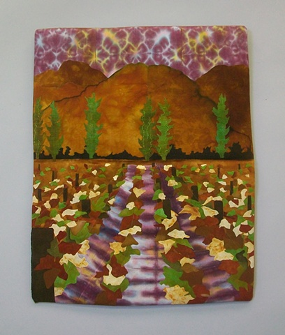 Fabric Collage by Lori Lester