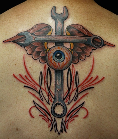 crossed wrench tattoo. Black Bedroom Furniture Sets. Home Design Ideas
