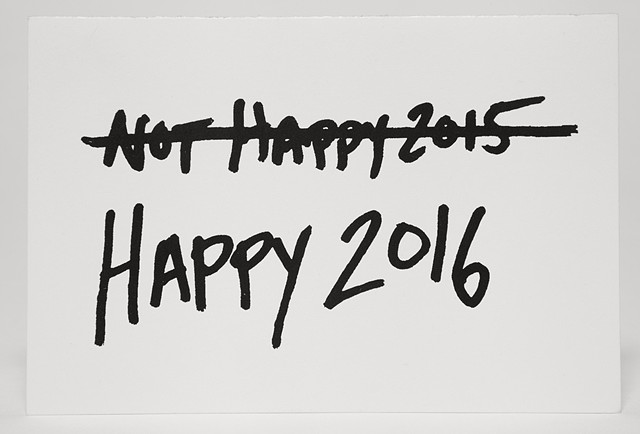 happy new year, unhappy new year cross out text art queer new year