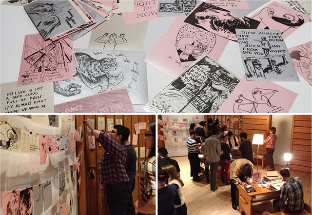 RISD Museum Romantic Logic Emmy Bright One Room Photocopy Exchange Love songs Drawing game