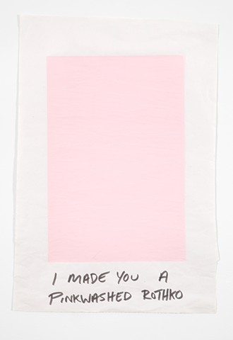 Rothko, Flat Black, Screen Print, stupid, gifting, gift print, making fun of modernism, making fun of myself, making fun of Rothko, queer Rothko, Pink Rothko