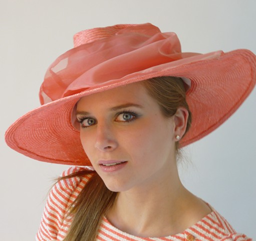 pink lemonade special event large brim hat