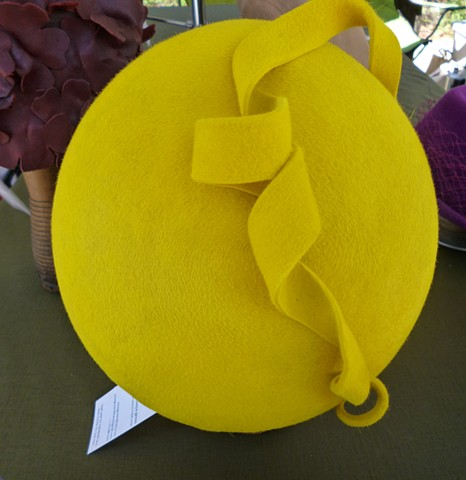 Nena sculpted beret hat with curl embellishment by tonya gross millinery