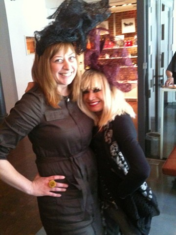 tonya with Betsey Johnson at our 21c Pop-Up Shop at the Kentucky Derby