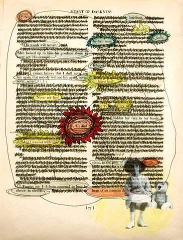 Pop Surrealism mixed media collage image text image.