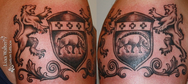 Lion and Boar Crest