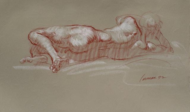 harry carmean drawing male nude