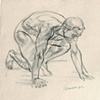 Life drawing of male model