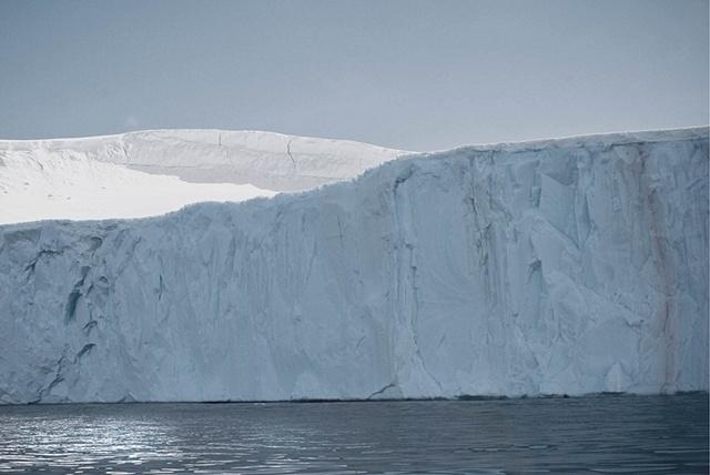 impressive antarctic iceberg