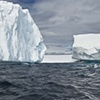 Three bergs Antarctica color