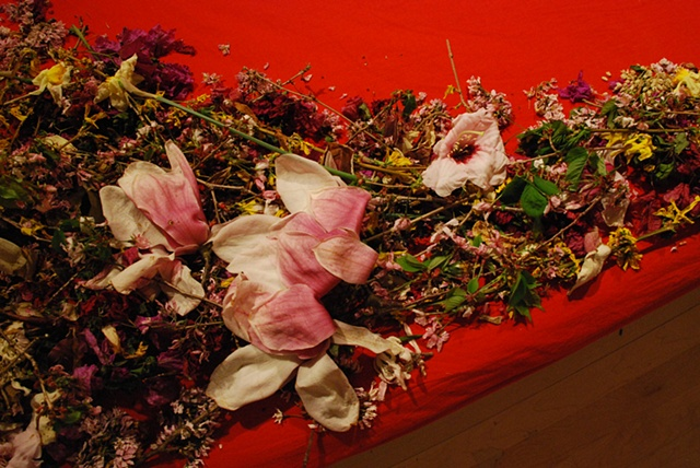 a dream of flowers - tribute to Ana Mendieta