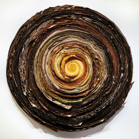 "Isaac Amala and Liz Simpson ""Untitled Wrap Yellow/Brown"""