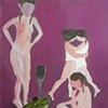 "Marie Van Elder ""Untitled (4 girls and frog)"""