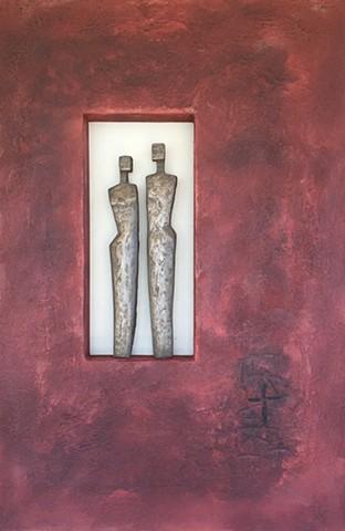 Bronze Figures/Red