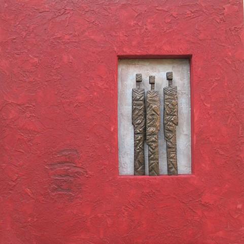 Three Bronze Figures