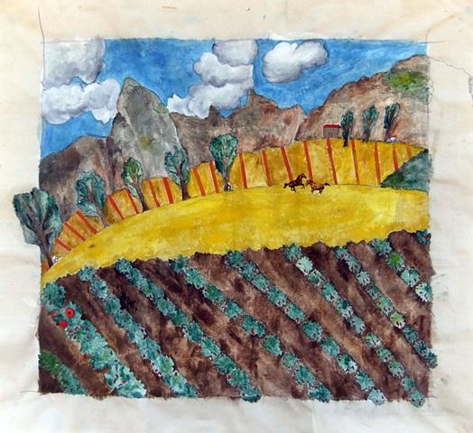 Pietra Lunga in the Fields of Sun