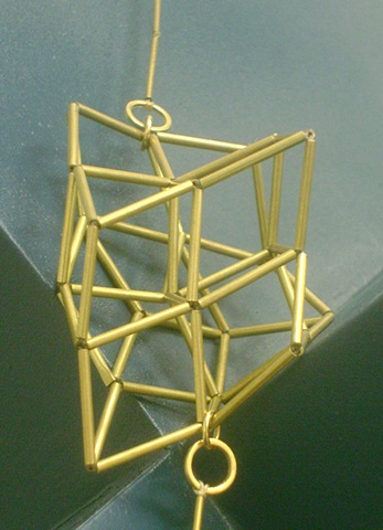Large Side Cube Necklace