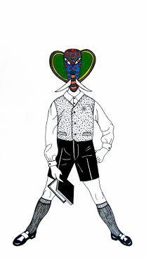 Carlos Baldizon Martini  Boy with Elephant Mask