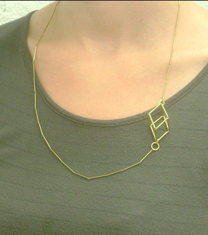 Single Side Cube Necklace