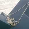 Large Cube Necklace (simple short)