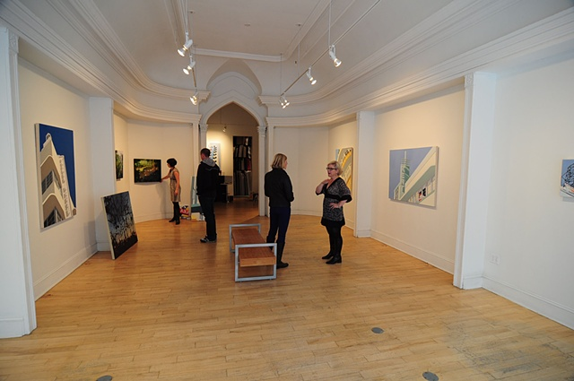 "Installation View, ""Vacated,"" at Gallery Page and Strange, Halifax, NS"
