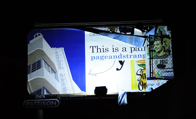 "Billboard for ""Vacated"" at Gallery Page and Strange, Halifax, NS"