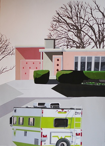 Pink House/Green Trailer