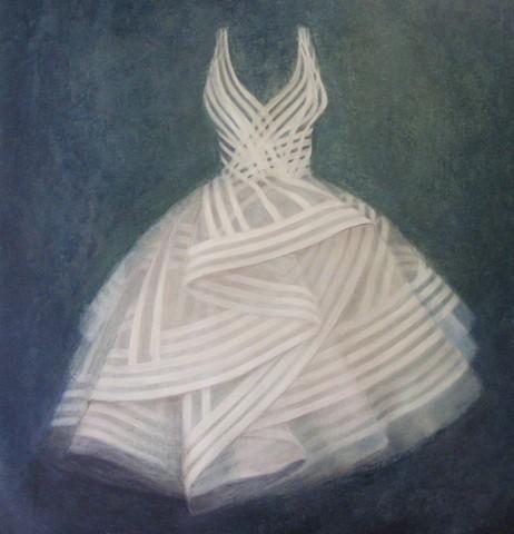 White dress painting