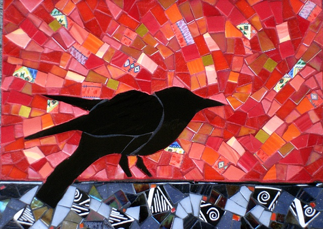 Loudly by Suzanne Steeves  ~  Maplestone Gallery  ~  Contemporary Mosaic Art