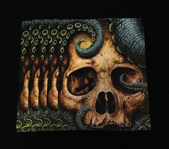 tentacle skull 8.5by11 glossy print