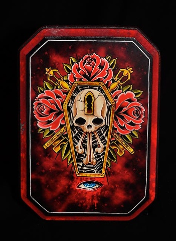 "coffin roses 7"" by 9"" cut"