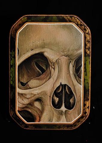 """grey mold skull 5"""" by 7"""" cut"""