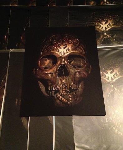 carved skull glossy print