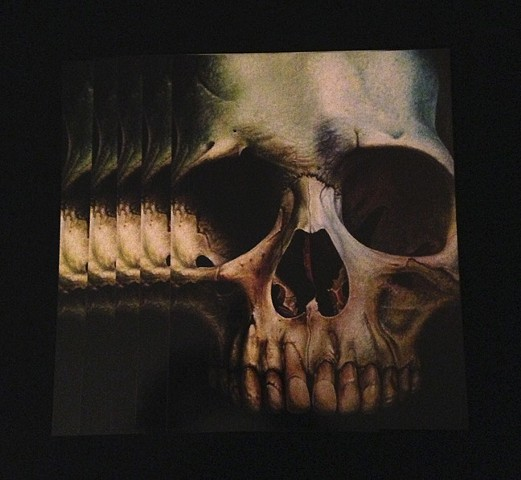green skull 8.5by11 glossy print