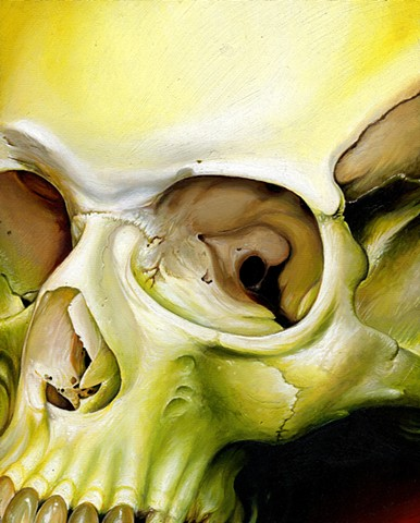 greenish yellow skull