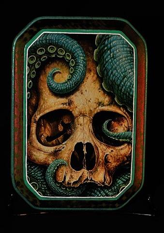 "tentacle skull 5"" by 7"" cut"