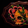 """skull with rose 7"""" by 9"""" waffle"""