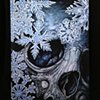 winter skull canvas giclee