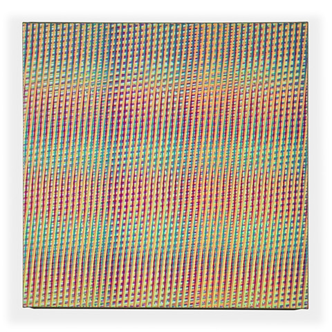 Mikey Kelly contemporary minimal op art painting acrylic linen pattern line artist studio