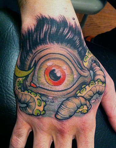hairy ass eyeball monster.