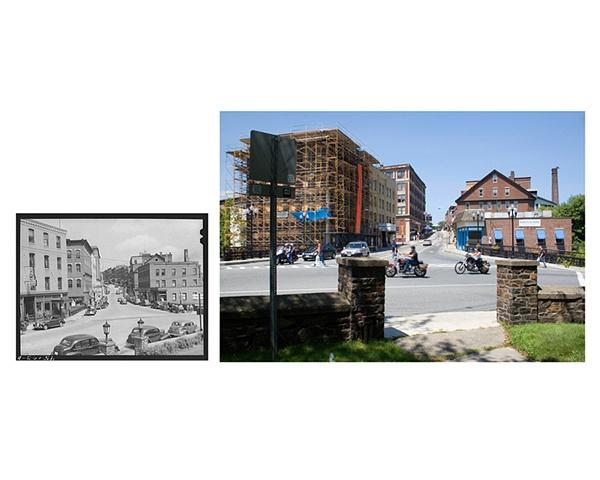 Main Street  Brattleboro, Vermont  1941 & 2006