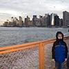 Staten Island Ferry leaving Manhattan  1941 & 2006