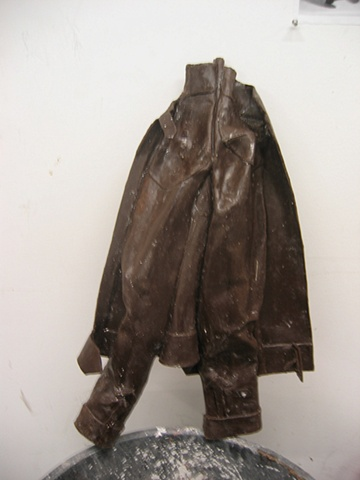 The wax model for the jacket sculpture.
