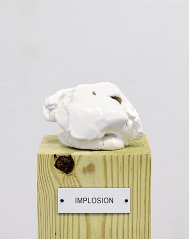 "Detail: Untitled (Plinth Studies with Ambiguous Nameplate Augmentation) [""Implosion""]"