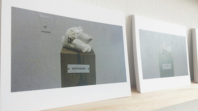 Postcards / Plinth Studies with Ambiguous Nameplate Augmentation [Gift Economy]  (Earthwork)