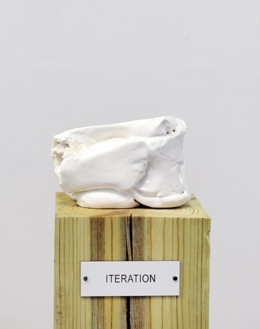 "Detail: Untitled (Plinth Studies with Ambiguous Nameplate Augmentation) [""Iteration""]"